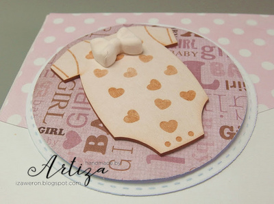 Chipboard - Baby Body with Hearts