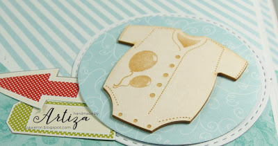 Chipboard -  Baby Body with Balloons