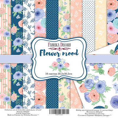 Scrapbooking Blok - Flower Mood 30,5 x 30,5 cm