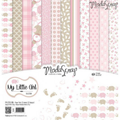 Scrapbooking Blok - My little girl 30,5 x 30,5 cm