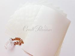 Double-sided adhesive sheets 10x15cm - 10 sheets