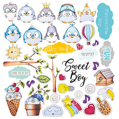 Scrapbooking Blok - My Tiny Sparrow Boy 30,5 x 30,5 cm