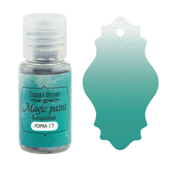 Suha barva - Magic Paint - Turquoise  - 15 ml