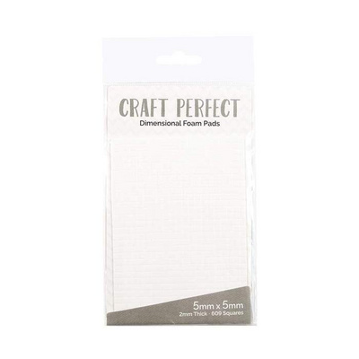 Craft Perfect - Adhesives - Dimensional Foam Pads - 5mm (609 pads)