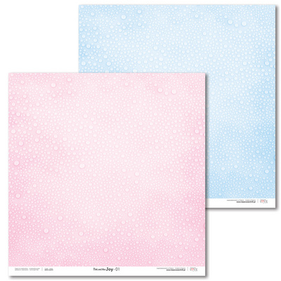 Scrapbooking Papir - Pink and blue JOY 01 - 30,5 x 30,5 cm