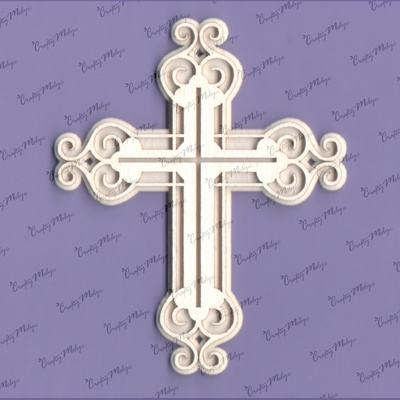 Chipboard - Cross 2 - 2D - 2 layers