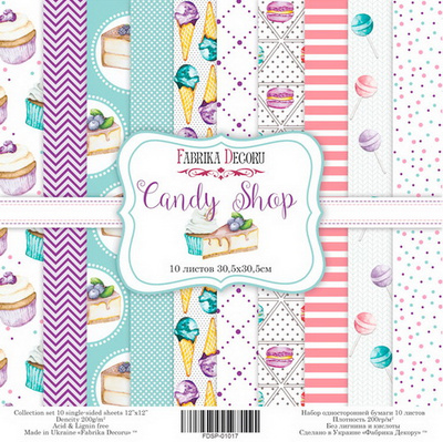 Scrapbooking Blok - Candy Shop 30,5 x 30,5 cm