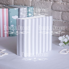 Album 20x20 cm - White and Gray stripes