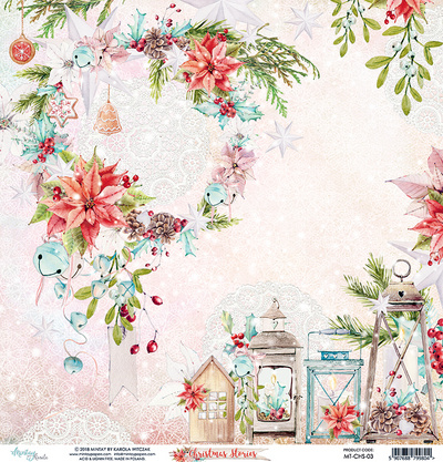 Scrapbooking papir - Christmas Stories 03 - 30,5 x 30,5 cm