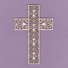 Chipboard - Cross with Lace