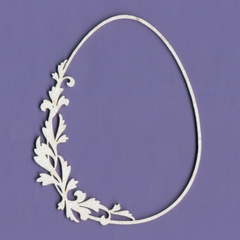 Chipboard - Easter Egg With Flower