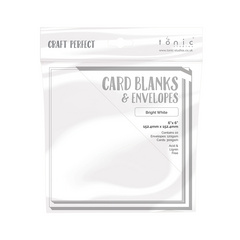"Craft Perfect - 10 Card Blanks & Envelopes - Bright White - 6"" x 6"" - 15,2 x 15,2 cm"