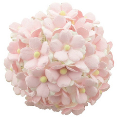 50 2-TONE LIGHT PINK MULBERRY PAPER SWEETHEART BLOSSOM FLOWERS