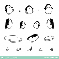 Arctic Penguins - Stamp Set