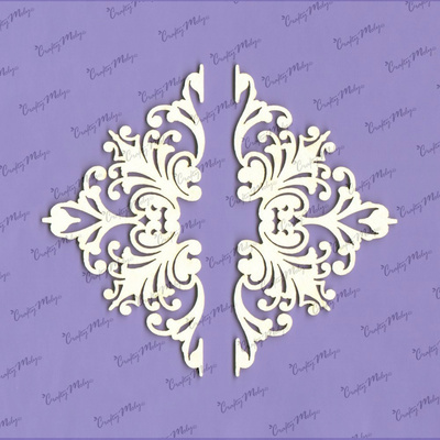 Chipboard - Corner Ornament Majestic - 2 Pieces