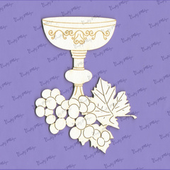 Chipboard - Chalice with Grapes
