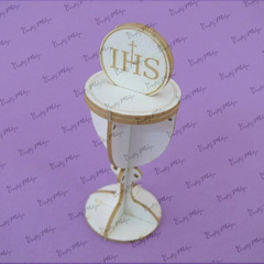 Chipboard - 3D Chalice with Host