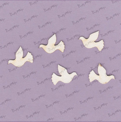 Chipboard - Doves - 5 pieces