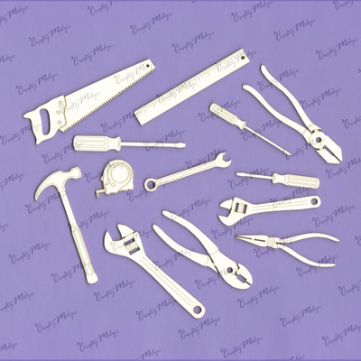 Chipboard - Set of Tools - 13 pieces