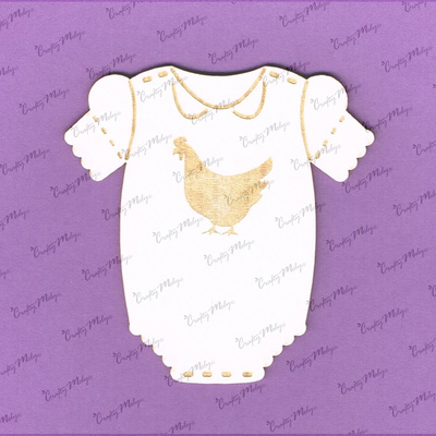 Chipboard -  Baby Body with Chicken