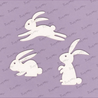 Chipboards - Bunnies - 3 pieces