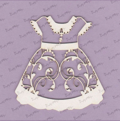 Chipboard - Dress with Lace - Big