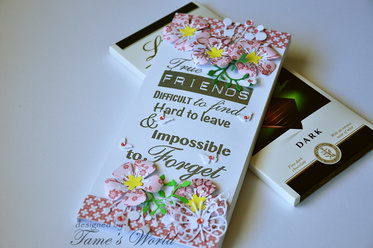 Chocolate box card : Handmade card