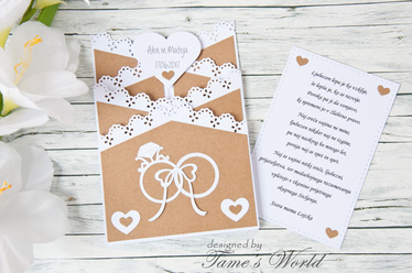Personalized Wedding card : handmade card:
