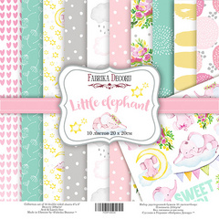 Scrapbooking Blok - Little Elephant 20 x 20 cm