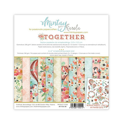 Scrapbooking Blok - Kolekcija Together 15 x 15 cm