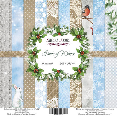 Scrapbooking Blok - Smile of Winter 30,5 x 30,5 cm
