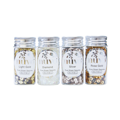 Nuvo - Pure Sheen 4 Pack - Golden Years Glitter - 280n