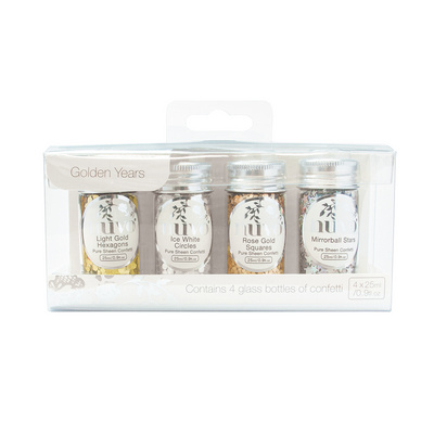 Nuvo - Pure Sheen 4 Pack - Golden Years Confetti - 284n