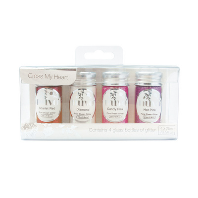 Nuvo - Pure Sheen 4 Pack - Cross My Heart Glitter - 294n