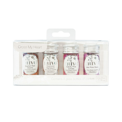 Nuvo - Pure Sheen 4 Pack - Cross My Heart Confetti - 285n