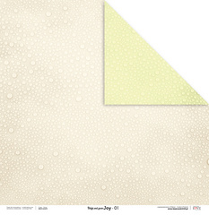 Scrapbooking Papir - Beige and green JOY 01 - 30,5 x 30,5 cm