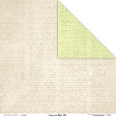 Scrapbooking Papir - Beige and green JOY 04 - 30,5 x 30,5 cm