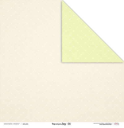 Scrapbooking Blok - Beige and green JOY 30,5 x 30,5 cm