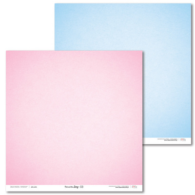 Scrapbooking Papir - Pink and blue JOY 03 - 30,5 x 30,5 cm