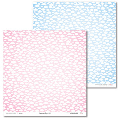 Scrapbooking Papir - Pink and blue JOY 04 - 30,5 x 30,5 cm