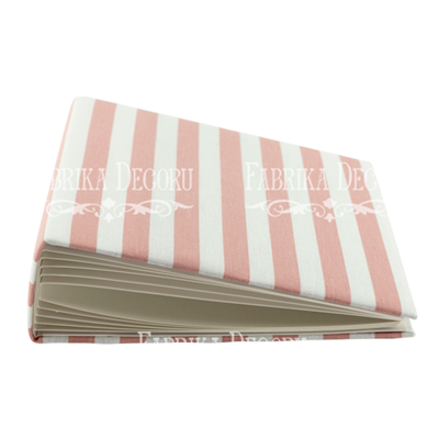 Album 20x20 cm - White and pink stripes
