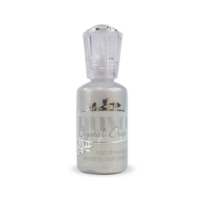 Nuvo Crystal Drops - Silver Lining - Metalic