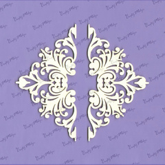 Chipboard Izrezki - Kotni Ornament Majestic - 2 kosa
